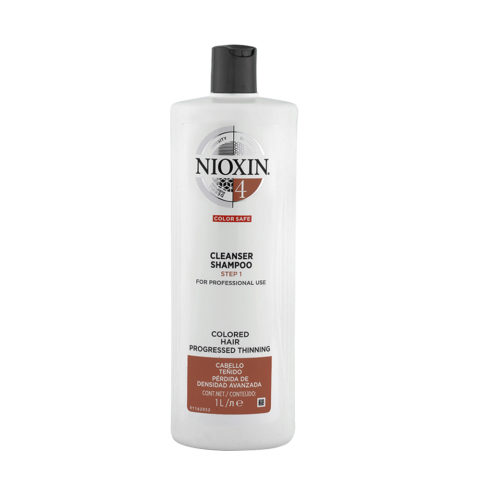 Nioxin System4 Cleanser Shampoo 1000ml - shampooing antichute