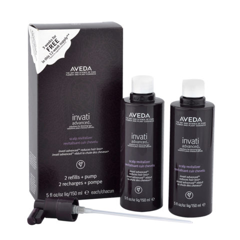 Aveda Invati advanced™ Scalp revitalizer 2x150ml - traitement renforçant pour les cheveux fins