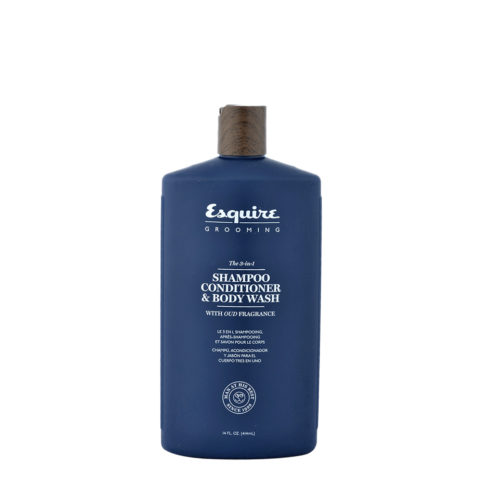 Esquire The 3-in-1 Shampoo Conditioner & Body Wash 414ml - shampooing aprés-shampooing et savon corps