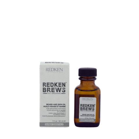 Redken Brews Man Beard and skin oil 30ml - Huile hydratante, barbe et peau