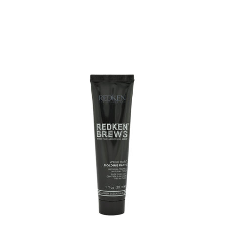 Redken Brews Man Work hard Molding paste 30ml - pâte coiffante contrôle maximum