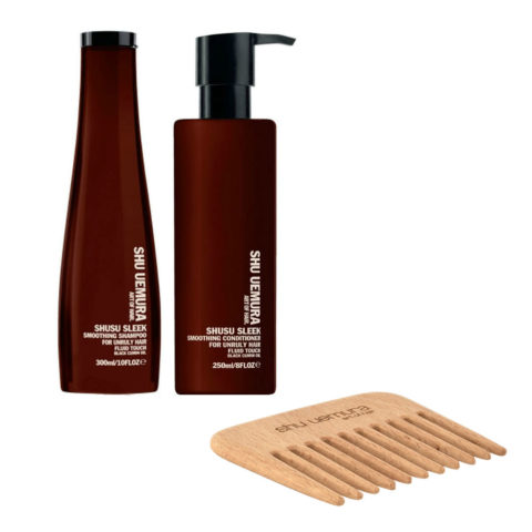 Shu Uemura Shusu Sleek Shampoo 300ml Conditioner 250ml - free comb