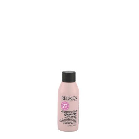 Redken Diamond Oil Glow Dry Gloss Shampoo 50ml - Shampooing cheveux éclatants pour tous types de cheveux
