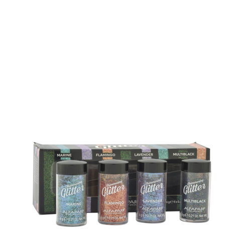 Alfaparf Styling Shimmering glitter 4 colours 4x6gr