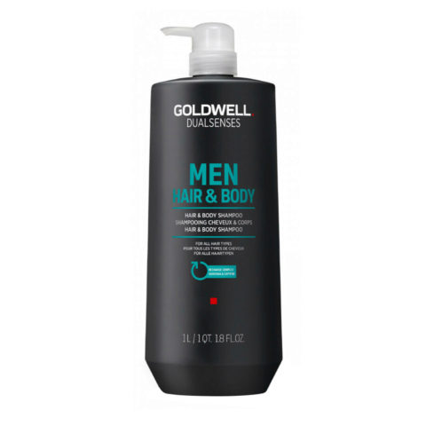 Goldwell Dualsenses Men Hair & body Shampoo 1000ml - shampooing cheveux et corps