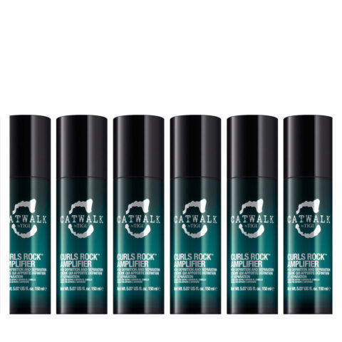 Tigi Catwalk Curlesque Curls Rock Amplifier 150ml - modelant boucles kit 6 pcs
