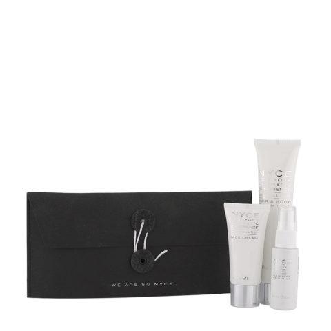 Nyce Anti pollution Woman Kit Shampooing 75ml Crème visage 30ml Lait pour les Cheveux 30ml