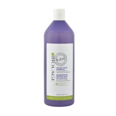 Biolage RAW Color Care Shampoo 1000ml - shampooing protecteur de couleur
