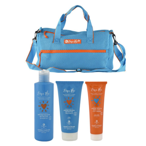 Tecna Sun Amoreterapia Shampoo 250ml Treatment 200ml Cream 150ml cadeau sac de plage