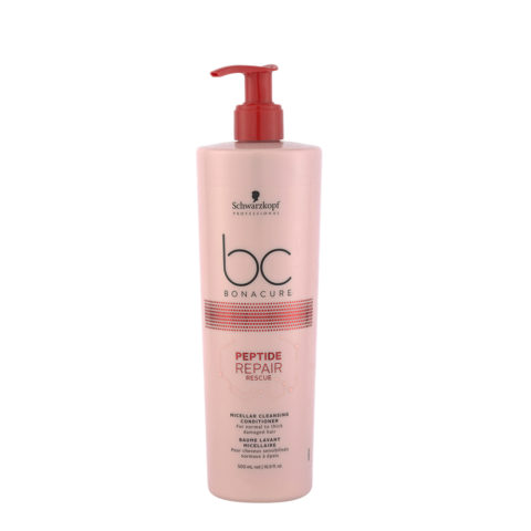 Schwarzkopf BC Bonacure Peptide Repair Rescue Cleansing Conditioner 500ml - shampooing et baume
