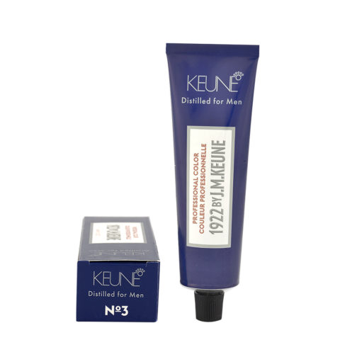 N 3 Keune 1922 Color Dark brown 60ml - chatain fonce