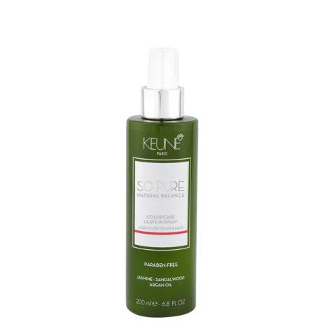 Keune So Pure Color Care Leave In Spray 200ml - spray sans rinçage cheveux colorés