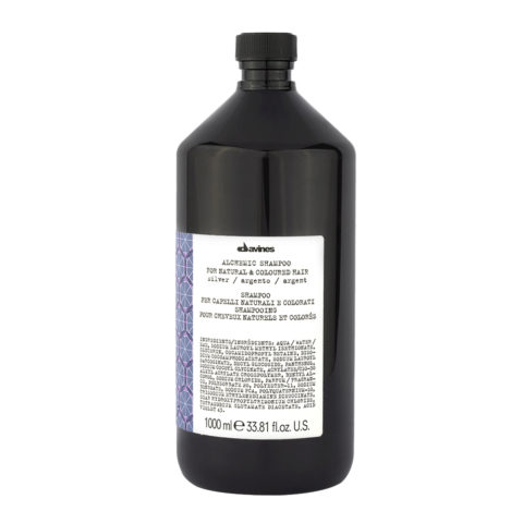 Davines Alchemic Shampoo Silver 1000ml - Shampooing pour cheveux platines