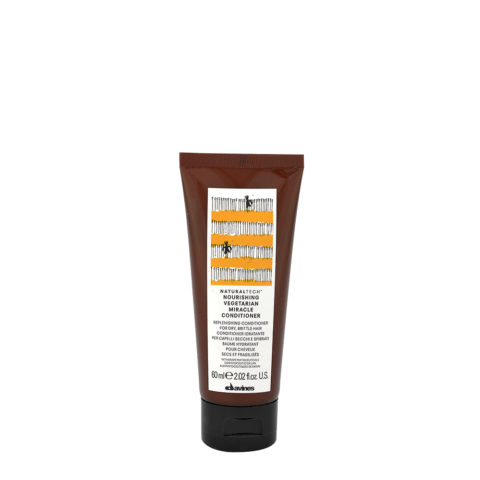 Davines Naturaltech Nourishing Vegetarian Miracle Conditioner 60ml - Conditionneur restructurant