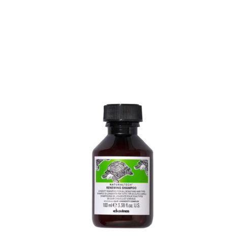 Davines Naturaltech Renewing Shampoo 100ml - shampooing de longévité tour types de cheveux