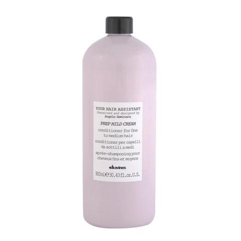 Davines YHA Prep mild cream 900ml - après-shampooing pour cheveux fins et moyens