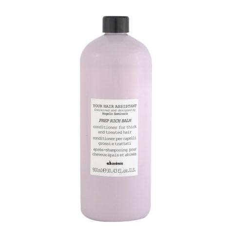 Davines YHA Prep Rich balm 900ml - après-shampooing pour cheveux épais et abimés
