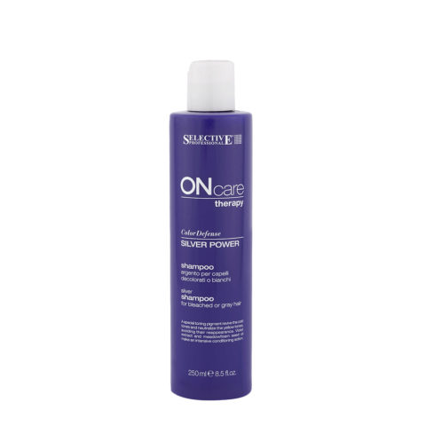 Selective On care Color Defense Silver Power Shampoo 250ml - shampoing anti-jaunissement