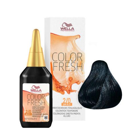 2/0 Noir Wella Color fresh 75ml
