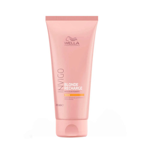 Wella Invigo Blonde Recharge Warm Blonde Color Refreshing Conditioner 200ml - baume blonde chaude