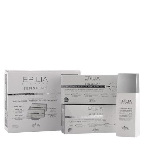 Erilia Sensicare Procapil Kit anti - Chute: shampoo 250ml + flacons 20x8ml