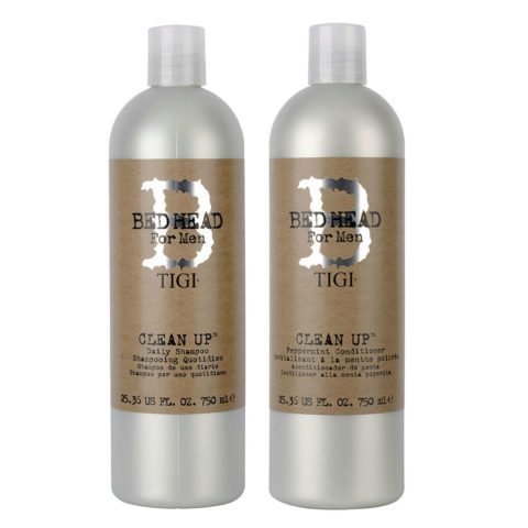 Tigi Kit B for men Clean up daily Shampoo 750ml Conditioner 750ml