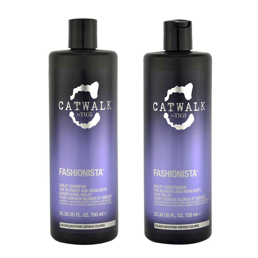 Tigi Catwalk Fashionista Violet kit shampoo 750ml Après-Shampooing 750ml Pour Les Cheveux Blonds