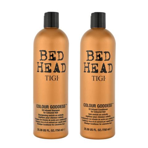 Tigi Colour Goddess Kit Shampooing 750ml Apres Shampooing 750ml Pour Cheveux Colorés