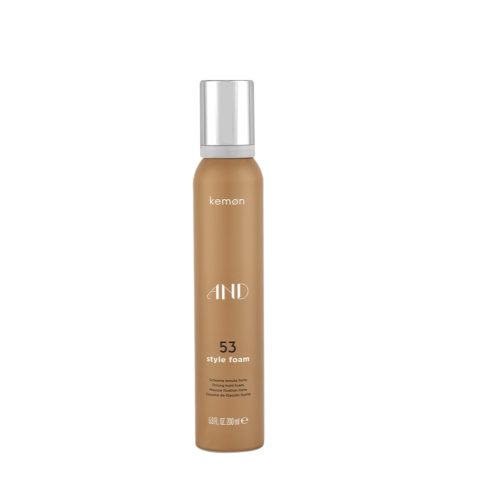Kemon And Styling 53 Style foam 200ml - mousse fixation forte