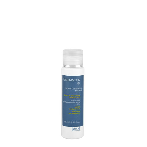 Medavita Scalp Lotion concentree homme shave Douche-Shampooing Tonifiant pH 5.5  55ml