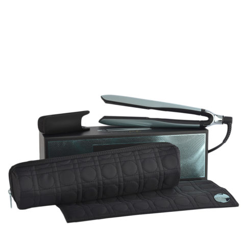 GHD Platinum + Styler Glacial Blue Collect. with Heat-resistant Bag - lisseur avec pochette thérmorésistante