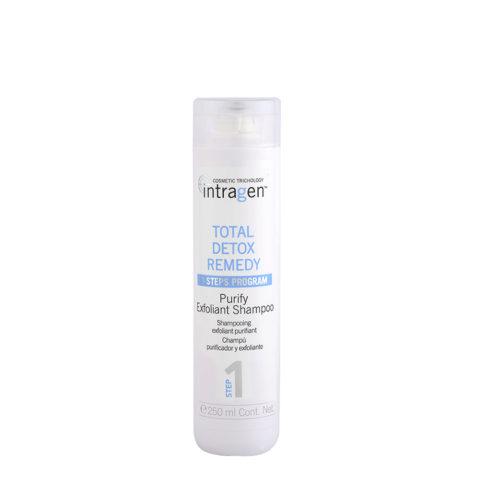 Intragen Total Detox Remedy Step 1 Purify Exfoliant Shampoo 250ml - shampooing exfoliant
