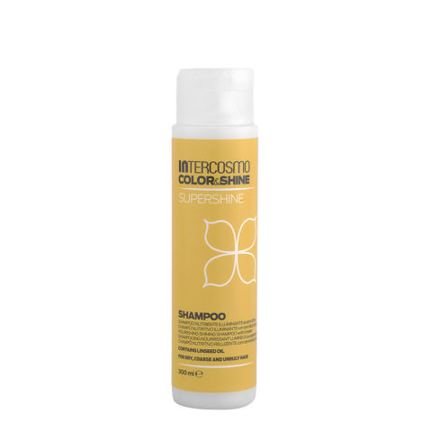 Intercosmo Color & Shine Supershine Shampoo 300ml - shampooing nourrissant lumineux aux graines de lin
