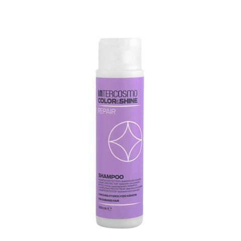 Intercosmo Color & Shine Repair Shampoo 300ml - shampooing protecteur réparateur à la kératine