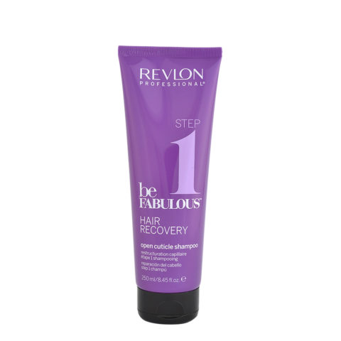 Revlon Be Fabulous Hair Recovery Step 1 Open cuticle Shampoo 250ml - shampooing de reconstruction pré-traitement