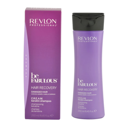 Revlon Be Fabulous Hair Recovery Cream Keratin Shampoo 250ml - shampooing restructurant
