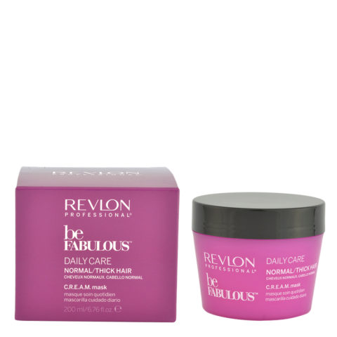 Revlon Be Fabulous Daily care Normal / thick hair Cream Mask 200ml - masque régénérant pour cheveux moyens à grands