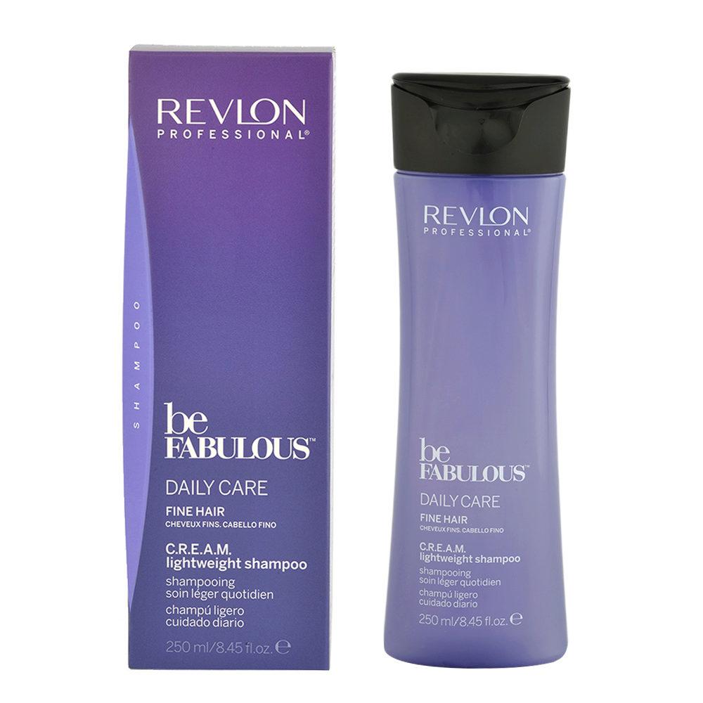 Revlon Be Fabulous Daily care Fine hair Cream Lightweight shampoo 250ml - shampooing léger cheveux fins