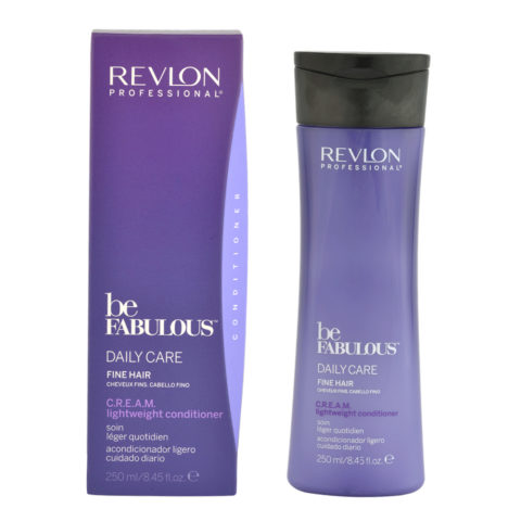 Revlon Be Fabulous Daily care Fine hair Cream Lightweight conditioner 250ml - baume cheveux fins