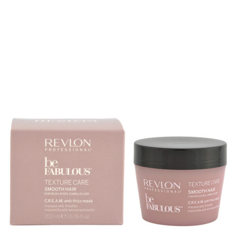 Revlon Be Fabulous Smooth hair Cream Anti-frizz Mask 200ml - masque anti-frisottis cheveux raides