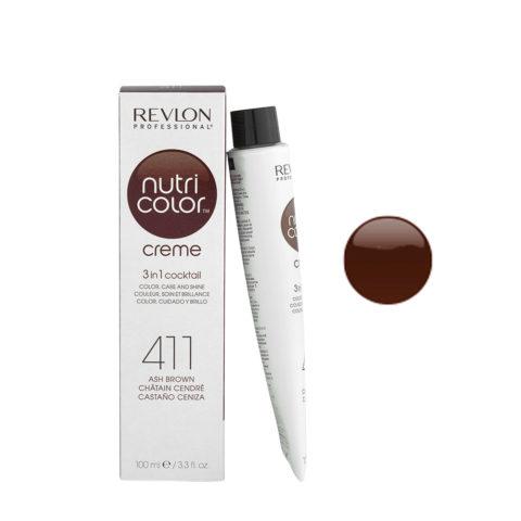 Revlon Nutri Color Creme 411 Châtain cendré 100ml - masque couleur