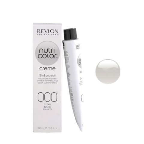 Revlon Nutri Color Creme 000 Clear / Blanc 100ml - masque couleur