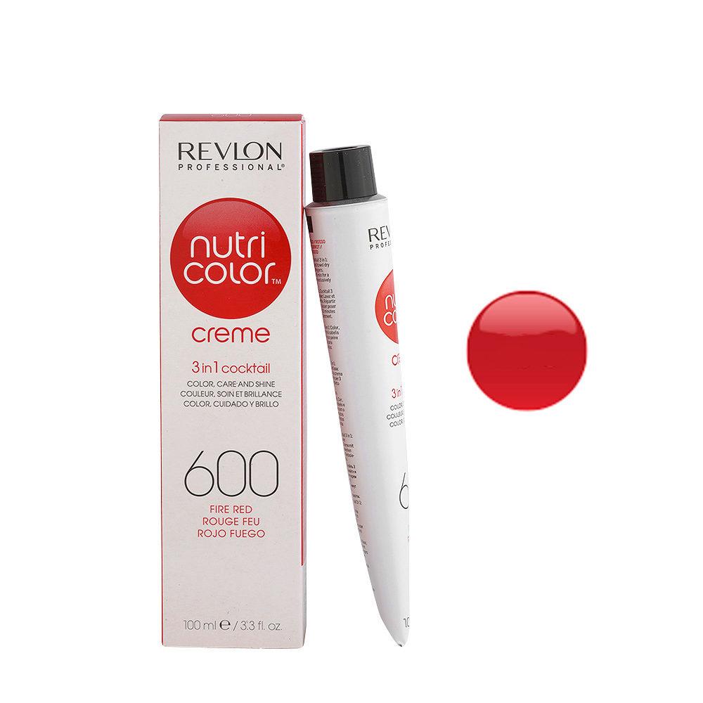 Revlon Nutri Color Creme 600 Rouge feu 100ml - masque couleur