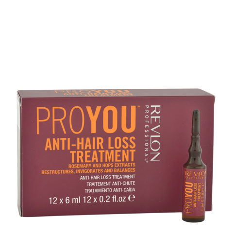 Revlon Pro You Anti-Hair Loss Treatment 12x6ml - flacons anti-chute