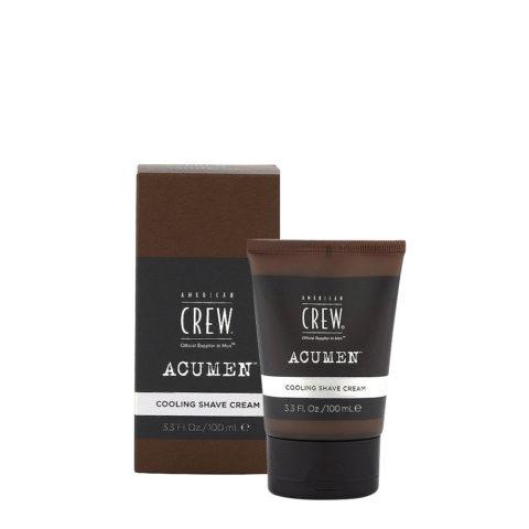 American Crew Acumen Cooling Shave Cream 100ml - Crème à Raser Rafraîchissante