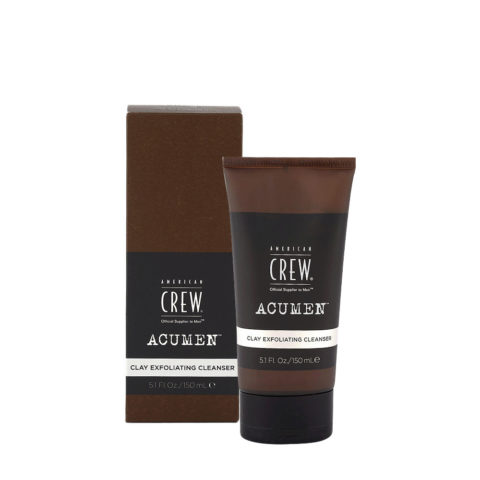 American Crew Acumen Clay Exfoliating Cleanser 150ml - Argile Nettoyante Exfoliante