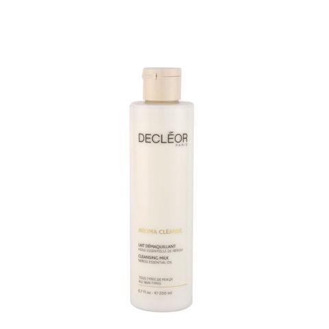 Decléor Aroma Cleanse Lait Démaquillant Essentiel 200ml - lait démaquillant pour tous types de peaux