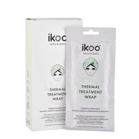 Ikoo Thermal treatment wrap Hydrate & shine mask 5x35g - masque hydratation et brillance