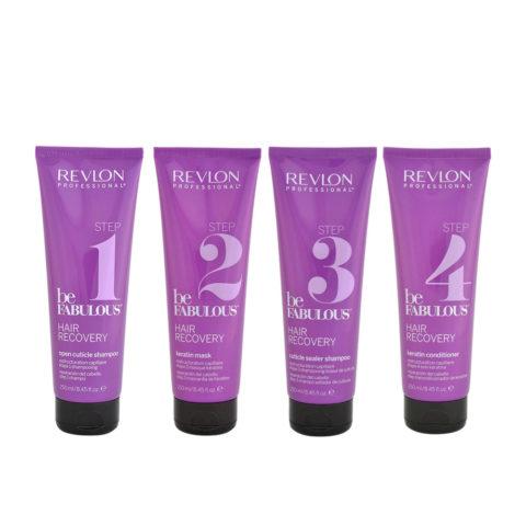 Revlon Be Fabulous Recovery Complete treatment kit 4x250ml