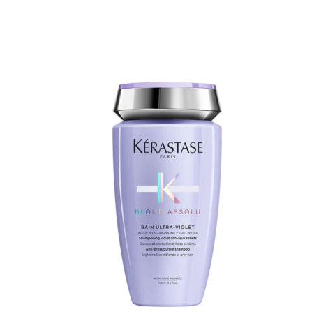Kerastase Blond Absolu Bain ultra violet 250ml - shampooing anti jaune pour cheveux blonds ou gris